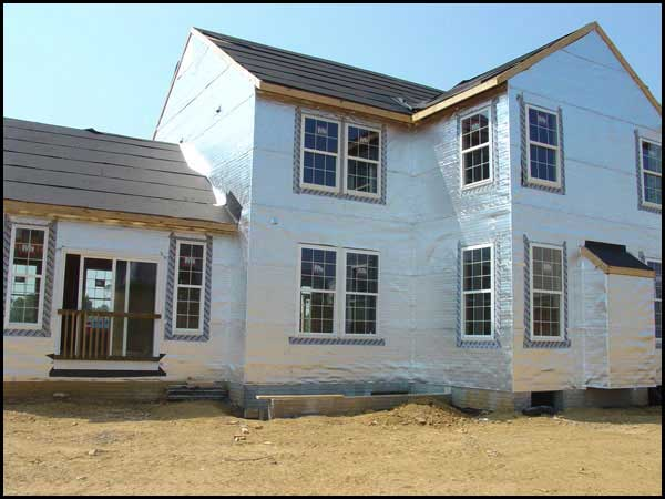 House wrap application low e northeast distribution for Sheathing house wrap