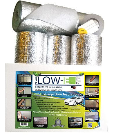 One Car White Garage Door Insulation Kit